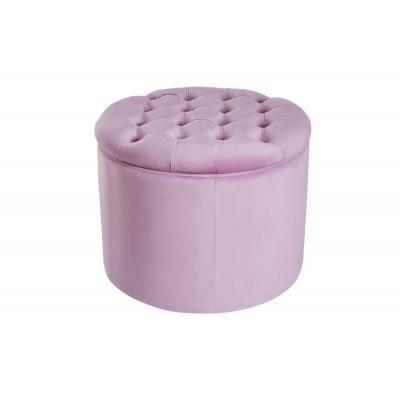 Modern barokk ülőke tárolóhellyel, lilás rózsaszín - POMPADOUR